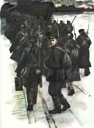 Великая страна СССР,Одессу покидает последний батальон