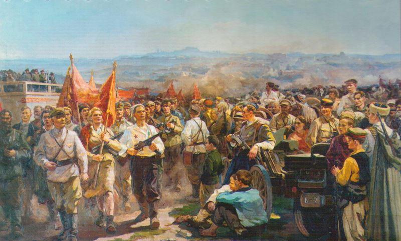 Великая страна СССР,Зайцев Е.А. Парад белорусских партизан в Минске 16 июля 1944 года